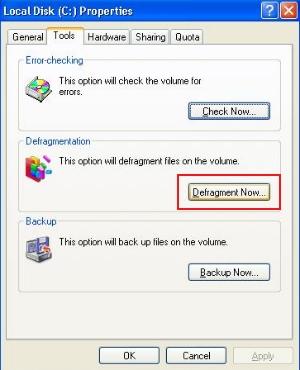 defragmentiranje hard diska