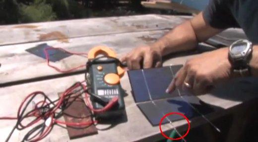 provjera napona na solarnim ćelijama
