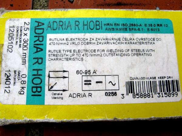 adria R Hobi podaci o elektrodama