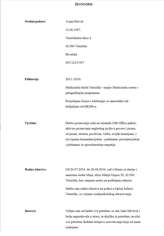 Kako Kvalitetno Napisati Zivotopis I Zamolbu Za Posao