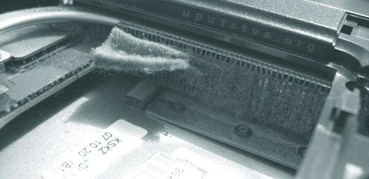 prašina u prijenosnim računalima