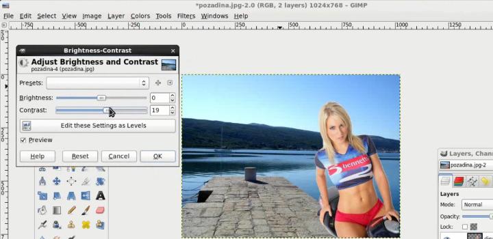 Kako napraviti jednostavnu foto montažu u Gimp programu