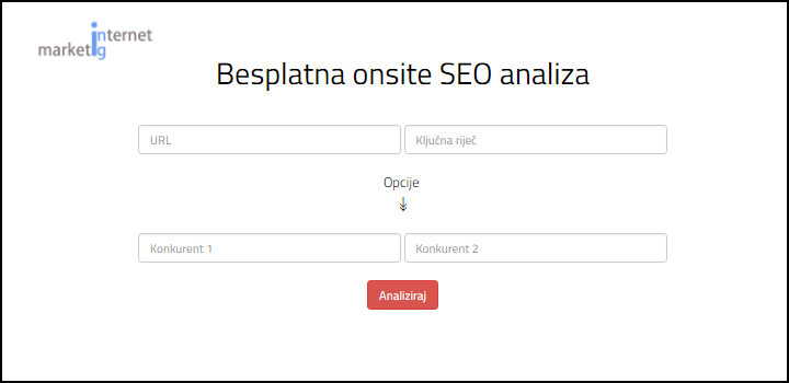 besplatna seo analiza internet marketing